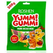 Цукерки желейні ROSHEN Yummi Gummi Mini Bear Mix ВКФ 200г/15шт