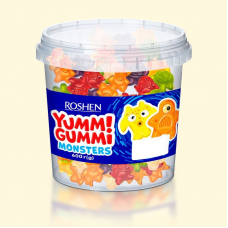 Цукерки желейні ROSHEN Yummi Gummi Monsters ВКФ 0.6кг/6пак