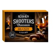 Цукерки Roshen Shooters з бренді лекером ВКФ 150г/10шт