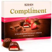 Цукерки Roshen Compliment Strawberry & Milk cream ВКФ 123г/10шт