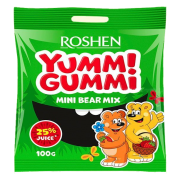 Цукерки желейні ROSHEN Yummi Gummi Mini Bear Mix ВКФ 100г/22шт