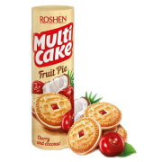 Печиво ROSHEN Multicake з начинкою вишня-кокос ККФ 195г/28шт