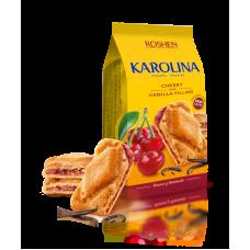Здобне печиво ROSHEN Karolina з вишнево-ванільною начинкою ККФ 168г/16шт