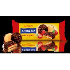 Здобне печиво Karolina з желейною начинкою зі смаком полуниці ККФ 135г /21шт
