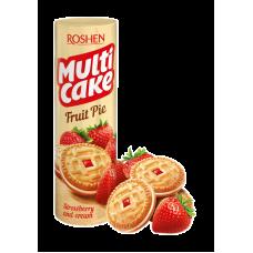 Печиво ROSHEN Multicake з начинкою полуниця-крем ККФ 195г/28шт