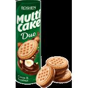 Печиво ROSHEN Multicake DUO з начинкою какао-горіх ККФ 180г/28шт