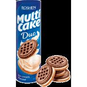 Печиво ROSHEN Multicake DUO з начинкою зі смаком пломбіру ККФ 180г/28шт