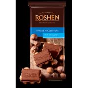 Шоколад ROSHEN Молочний з цілим лісовим горіхом ВКФ 90г/18шт FP