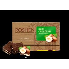 Шоколад ROSHEN чорний чорний з подрібненим лісовим горіхом ВКФ 90/22шт
