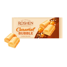 Шоколад ROSHEN Пористий білий карамельний ВКФ 80г/20шт FP