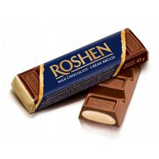 Батон Roshen молочно-шоколадний з начинкою крем-брюле ВКФ 43г/180шт