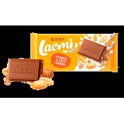 Шоколад ROSHEN Lacmi молочний з арахісом та шматочками солоної карамелі ВКФ 90/24шт