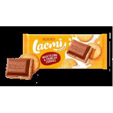 Шоколад ROSHEN Lacmi молочний з молочною начинкою та печивом ВКФ 115/17шт