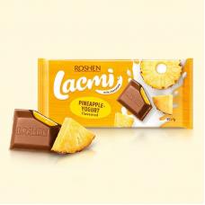 Шоколад ROSHEN Lacmi молочний з начинкою ананас-йогурт ВКФ 90/24шт