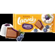Шоколад ROSHEN Lacmi молочний з начинкою зі смаком чорнична панакота ВКФ 90/24шт