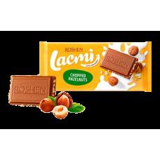 Шоколад ROSHEN Lacmi молочний з подрібненим лісовим горіхом ВКФ 90/24шт