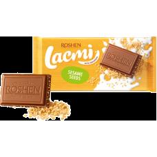 Шоколад ROSHEN Lacmi молочний з сезамом ВКФ 90/24шт