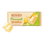 Шоколад ROSHEN Пористий білий зі смаком ананасу ВКФ 80г/20шт FP