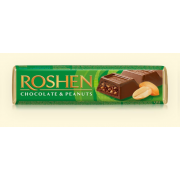 Батон Roshen молочно-шоколадний з арахісовою начинкою ВКФ 38г/180шт