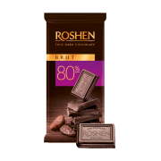 Шоколад ROSHEN чорний Brut 80% ВКФ 85г/35шт