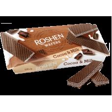 Вафлі ROSHEN Wafers какао-молоко ВКФ 216г/24шт